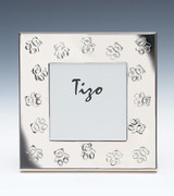 Tizo Teddy Bears 3 x 3 Inch Square Silver Plated Picture Frame, MPN: BB005-33