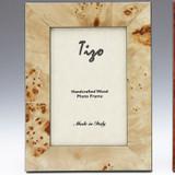 Tizo Ocean 3 x 3 Inch Sqaure Wood Picture Frame - Tan