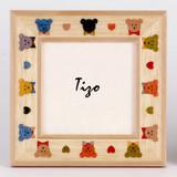 Tizo Kids 4 x 6 Inch Bear Wood Picture Frame