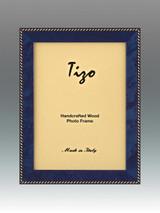 Tizo Zebra 4 x 6 Inch Wood Picture Frame - Blue, MPN: OBL20RB-46