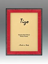 Tizo Zebra 5 x 7 Inch Wood Picture Frame - Red, MPN: OBL20RD-57