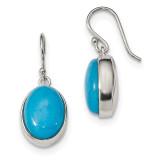 Blue Mountain Jade Shepherd Hook Earrings Sterling Silver MPN: QE14011