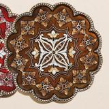 Tizo Persia Jeweled Coaster - Brown