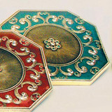 Tizo Floral Jeweled Coaster - Green
