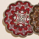 Tizo Persia Jeweled Coaster - Red
