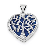 18mm Filigree Tree Heart Locket Sterling Silver Rhodium-plated MPN: QLS703
