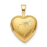 12mm Fairy Heart Locket Sterling Silver Gold-plated MPN: QLS831