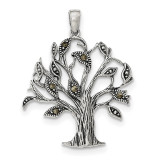 Oxidized with Marcasite Tree Pendant Sterling Silver MPN: QP4322, UPC: 191101459702