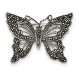 Marcasite Butterfly Pin Sterling Silver Antiqued MPN: QP4889
