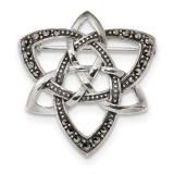 Marcasite Celtic Knot Pin Sterling Silver Antiqued MPN: QP4890