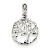 Tree Pendant Sterling Silver Polished MPN: QP4910