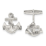 Anchor with dangle rope Cufflinks Sterling Silver MPN: QQ560