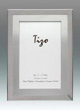 Tizo Simple Dots 5 x 7 Inch Silver Plated Picture Frame, MPN: 4034-57