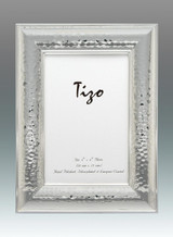 Tizo Tick Hammered 5 x 7 Inch Silver Plated Picture Frame, MPN: 2029-57