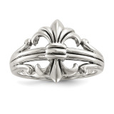 Fleur de Lis Ring Sterling Silver Polished MPN: QR6363