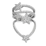 CZ Star Ring Sterling Silver Rhodium-plated MPN: QR6653