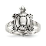 Antiqued Turtle Ring Sterling Silver Polished MPN: QR6703