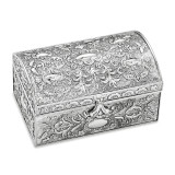 Antiqued Silver-plated Chest Jewelry Box, MPN: GL1592, UPC: 15227869033