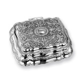 Antiqued Silver-plated Rectangular Jewelry Box, MPN: GL1593, UPC: 15227869057
