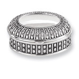 Antiqued Silver-plated Large Oval Dot Jewelry Box, MPN: GL1619, UPC: 15227868661