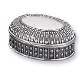 Antiqued Silver-plated Medium Oval Dot Jewelry Box, MPN: GL1621, UPC: 15227868678