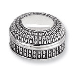 Antiqued Silver-plated Small Round Dot Jewelry Box, MPN: GL1622, UPC: 15227866360