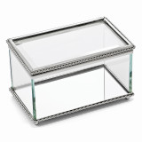 Nickel-plated Hinged Rectangular Glass Box, MPN: GL7485, UPC: 47105036169