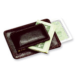 Brown Leather Credit Card Case and Money Clip, MPN: GL8802, UPC: 47105567236