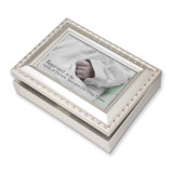 Champagne Silver Finish Baptism Music Box, MPN: GM11577, UPC: 633303101541