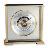 Aviator World Time Clock with engraving plate, MPN: GM1272, UPC: 86645638976