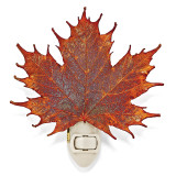 Iridescent Copper Dipped Sugar Maple Leaf Nightlight, MPN: GM13086, UPC: 810391010867