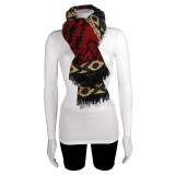 Black Beige Red Fashion Scarf, MPN: GM13097