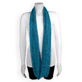 Aqua Blue Stripe Infinity Fashion Scarf, MPN: GM13172