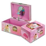 Pink Ballerina Musical Square Jewelry Box, MPN: GM13276, UPC: 720954660494