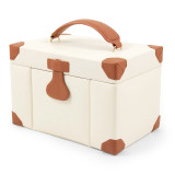 Ivory Leather 4 Level Multi Compartment Jewelry Box, MPN: GM13308, UPC: 797140546276