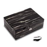 Lacquered Ebony Wood Jewelry Box with Valet Tray & Key Lock, MPN: GM13330, UPC: 797140526582
