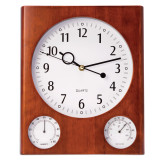 Cherry Wall Clock with Thermometer & Hygrometer, MPN: GM13373, UPC: 797140131052