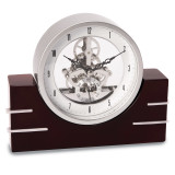 Lacquered Mahogany Wood with Stainless Steel Accents Clock, MPN: GM13374, UPC: 797140136712