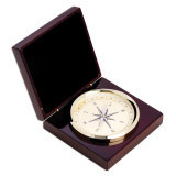 Brass Compass in Lacquered Rosewood Hinged Box, MPN: GM13408, UPC: 797140116554