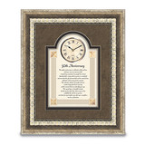 50th Anniversary Picture Framed Sentiment with Clock, MPN: GM13463, UPC: 37505906551