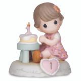 Precious Moments Growing Grace Age One Brunette Porcelain Figurine, MPN: GM13937, UPC: 875555017984