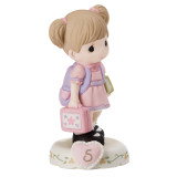 Precious Moments Growing Grace Age Five Brunette Porcelain Figurine, MPN: GM13941, UPC: 875555029154