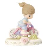 Precious Moments Growing Grace Age Six Brunette Porcelain Figurine, MPN: GM13942, UPC: 875555029178