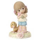 Precious Moments Growing Grace Age Twelve Brunette Porcelain Figurine, MPN: GM13948, UPC: 875555036367