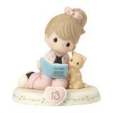 Precious Moments Growing Grace Age Thirteen Brunette Porcelain Figurine, MPN: GM13949, UPC: 875555036381