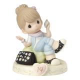 Precious Moments Growing Grace Age Fourteen Brunette Porcelain Figurine, MPN: GM13950, UPC: 875555036404