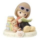 Precious Moments Growing Grace Age Fifteen Brunette Porcelain Figurine, MPN: GM13951, UPC: 875555036428