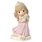 Precious Moments Growing Grace Age Sixteen Brunette Porcelain Figurine, MPN: GM13952, UPC: 875555036442