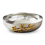 Golden Vine Hammered Salad Bowl Stainless Steel, MPN: GM14118, UPC: 15227700206