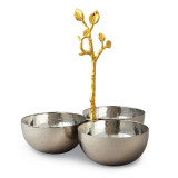 Golden Vine Hammered Triple Bowl Stainless Steel, MPN: GM14120, UPC: 15227700237